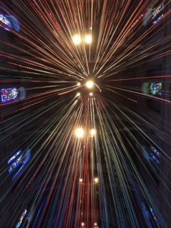 Megan uses perspective and color to frame her exploration of the cathedral