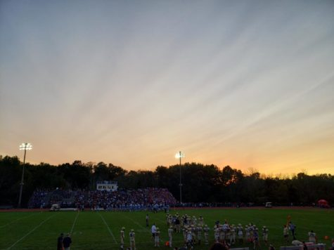 Snapshot of the cross-town rival game between the Freehold Colonials and Township Patriots